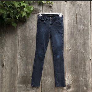 J Brand dark wash atmosphere mid rise skinny jeans